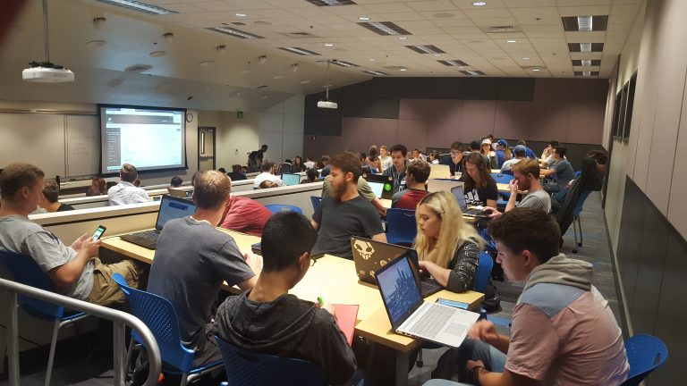 Picture of large active learning classroom