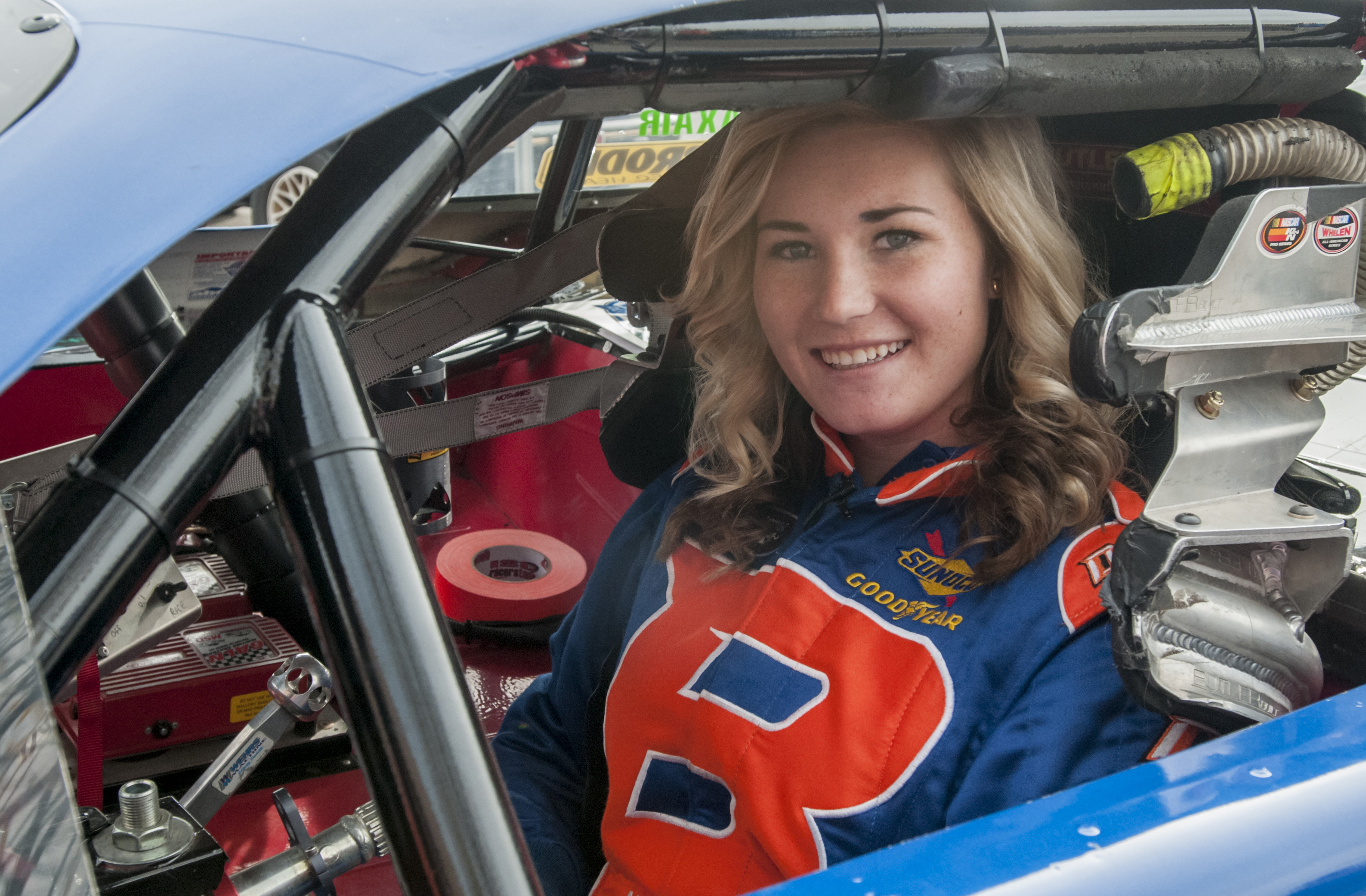 Hannah Newhouse in racecar image
