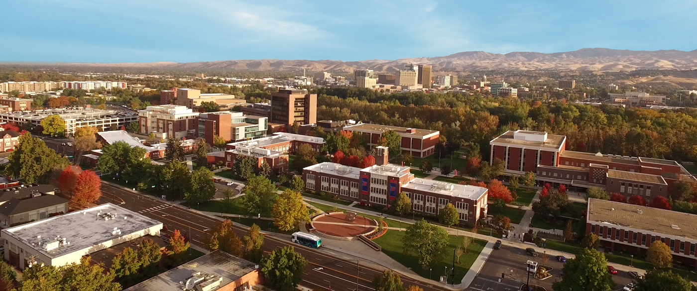 Panoramic photo of Boise State Campus