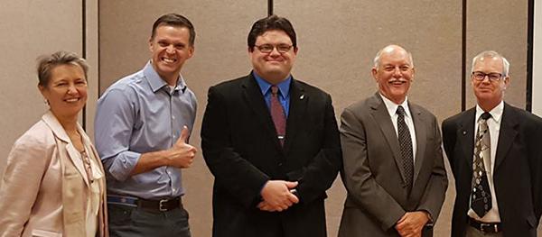 Photo of Matt May and advisors