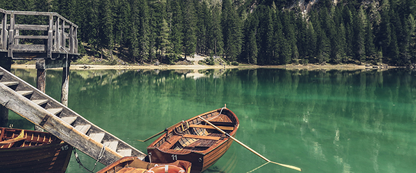 Photo of boat on a green lake