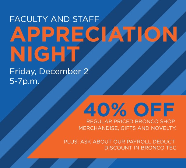 Bronco Shop Faculty and Staff Night