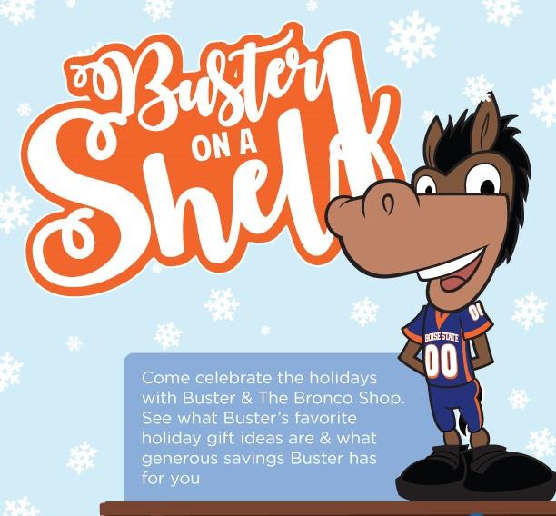 Buster On A Shelf