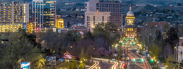 photo of downtown boise with zions bank