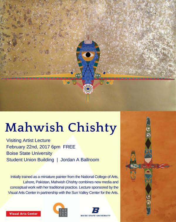 Mahwish Chisty Februrary 22 at 6:00 pm at Boise State University, Jordan A Ballroom