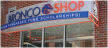 Bronco Shop Sign