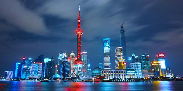 Skyline in Shanghai, China