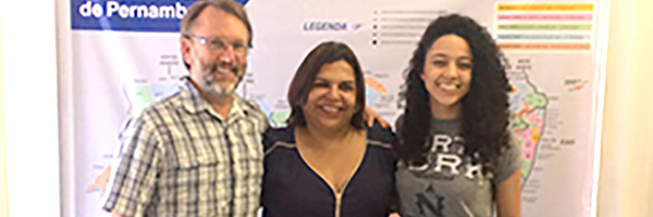 photo of Dr. Brian Wampler and MPA student Ana Costa in Brazil