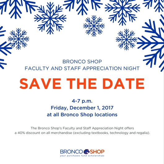 Bronco Shop Save the Date